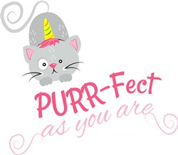 Purrfect As You Are print art
