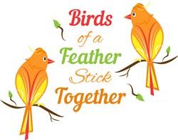 Birds Of A Feather print art