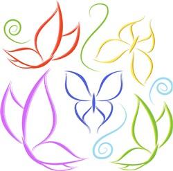 Butterflies Outline print art