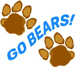 Bear Paw Go Bears print art