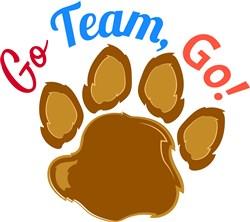 Bear Paw Go Team Go print art