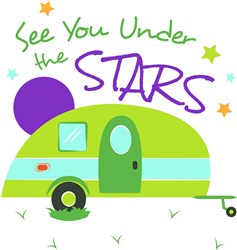 Camper See You Under The Stars print art