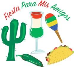Cinco De Mayo Fiesta Para Mis Amigos print art