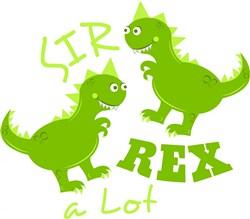 Dino Sir Rex A Lot print art