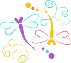 Dragonfly print art