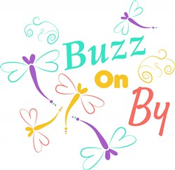 Dragonfly Buzz On By print art