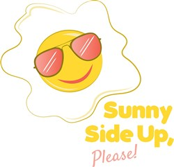 Egg Sunny Side Up Please print art