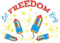 Fireworks Let Freedom Ring print art