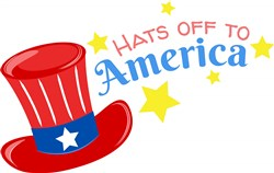 Fourth Hat Hats Off To America print art
