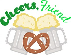 Beer Pretzel Cheers Friend print art