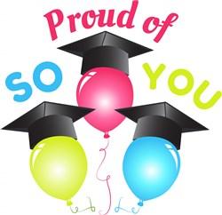 Grad Balloons So Proud Of You print art