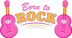 Guitar Born To Rock print art