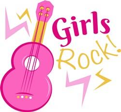 Guitar Girls Rock print art