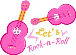 Guitar Let s Rock N Roll print art