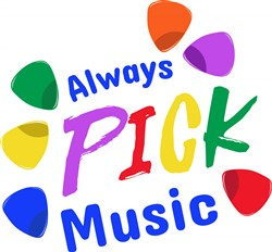 Guitar Picks Always Pick Music print art