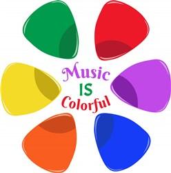 Guitar Pick Music Is Colorful print art