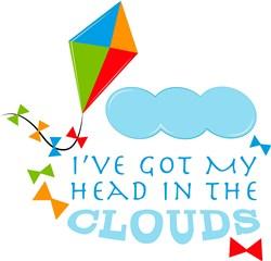 Kite I ve Got My Head In The Clouds print art