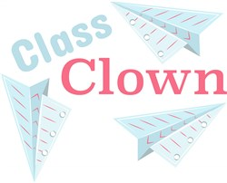 Paper Planes Class Clown print art