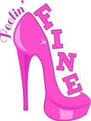 Pink Heels Feelin Fine print art