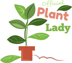 Plant Official Plant Lady print art