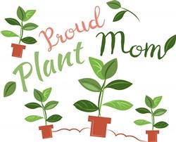 Plant Proud Plant Mom print art