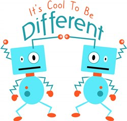Robot It s Cool To Be Different print art