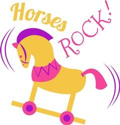 Rocking Horse Horses Rock print art