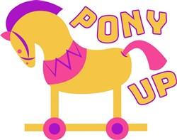 Rocking Horse Pony Up print art