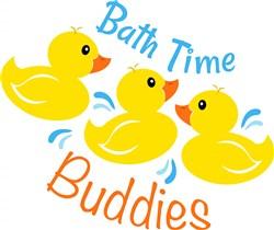 Rubber Duck Bath Time Buddies print art