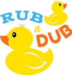 Rubber Duck Rub A Dub print art
