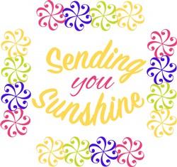Swirl Pattern Sending Sunshine Your Way print art