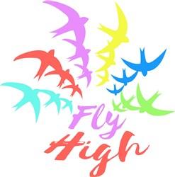 Bird Rainbow Fly High print art