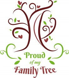 Tree Proud Of My Family Tree print art