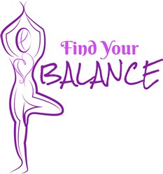 Tree Pose Find Your Balance print art