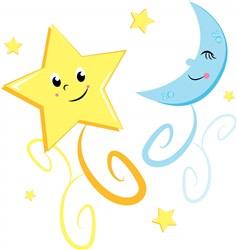 Twinkle Star and Moon print art