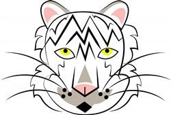 White Tiger print art