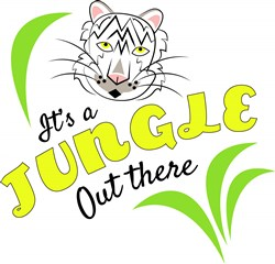 White Tiger It s A Jungle Out There print art