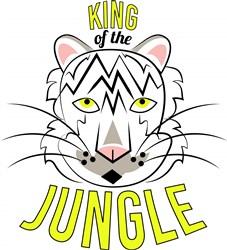 White Tiger King Of The Jungle print art