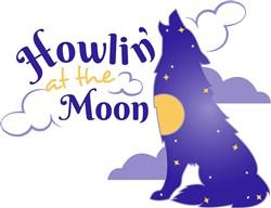 Wolf Howlon At The Moon print art