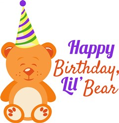 Happy Birthday Lil Bear print art