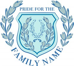 Blue Crest Pride For The Family Name print art
