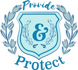 Blue Crest Provide & Protect print art