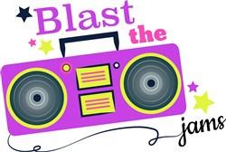 Boombox Blast The Jams print art