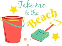 Bucket Shovel Take Me To The Beach print art
