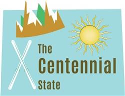 Colorado The Centennial State print art