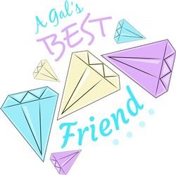 Diamonds A Gal s Best Friend print art