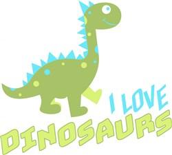 Dino I Love Dinosaurs print art