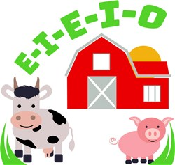 Farm E I E I O print art