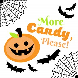 Halloween More Candy Please print art