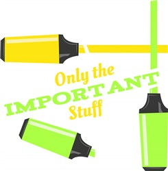 Hilighters Only The Important Stuff print art
